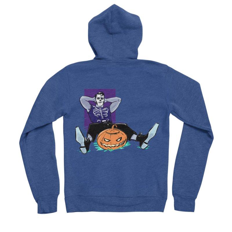 Pumpkin King Women's Sponge Fleece Zip-Up Hoody by Ego Rodriguez