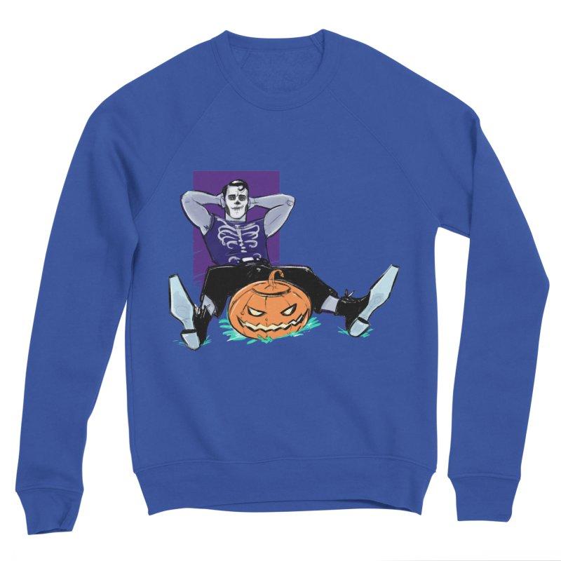 Pumpkin King Men's Sponge Fleece Sweatshirt by Ego Rodriguez