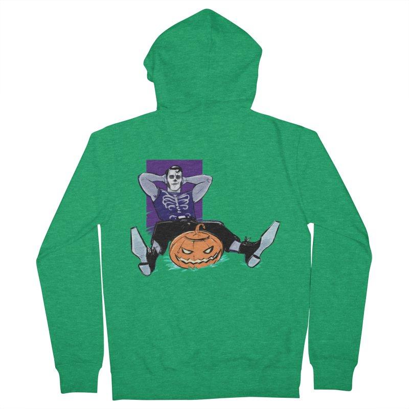 Pumpkin King Men's Zip-Up Hoody by Ego Rodriguez