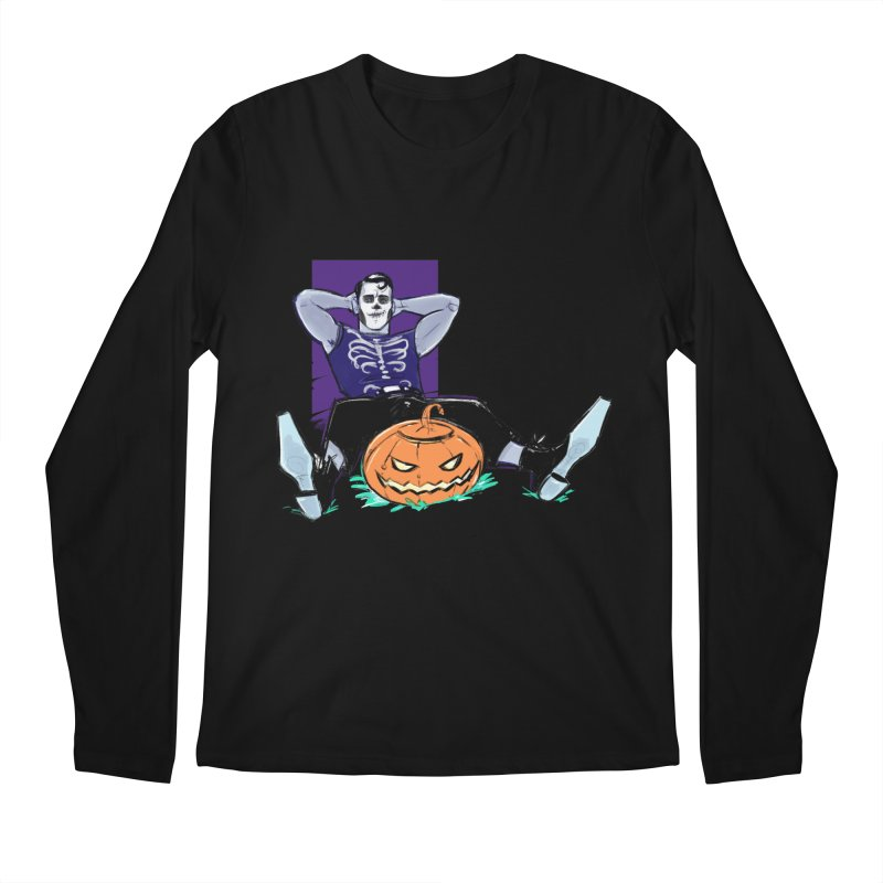 Pumpkin King Men's Longsleeve T-Shirt by Ego Rodriguez