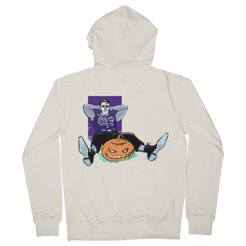 Pumpkin King Men's French Terry Zip-Up Hoody by Ego Rodriguez