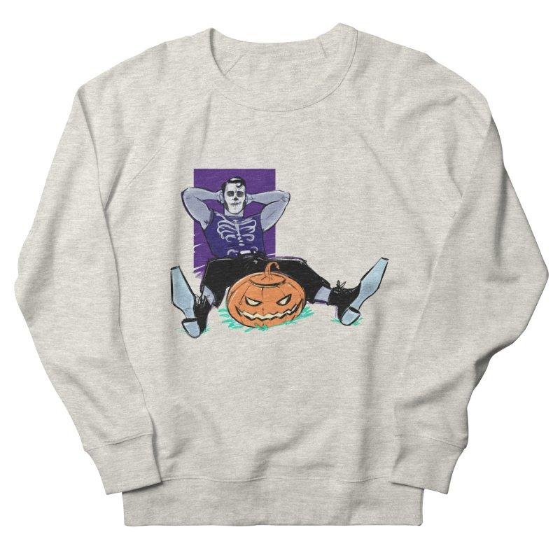 Pumpkin King Men's French Terry Sweatshirt by Ego Rodriguez