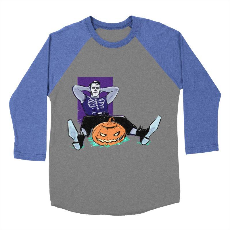 Pumpkin King Women's Baseball Triblend Longsleeve T-Shirt by Ego Rodriguez