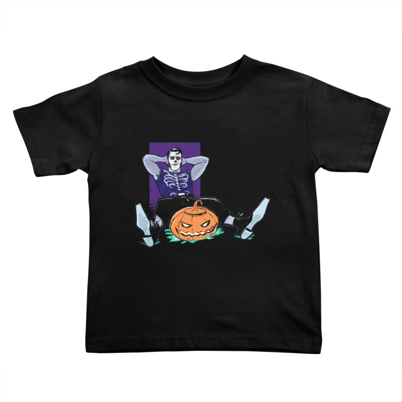 Pumpkin King Kids Toddler T-Shirt by Ego Rodriguez