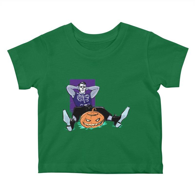 Pumpkin King Kids Baby T-Shirt by Ego Rodriguez