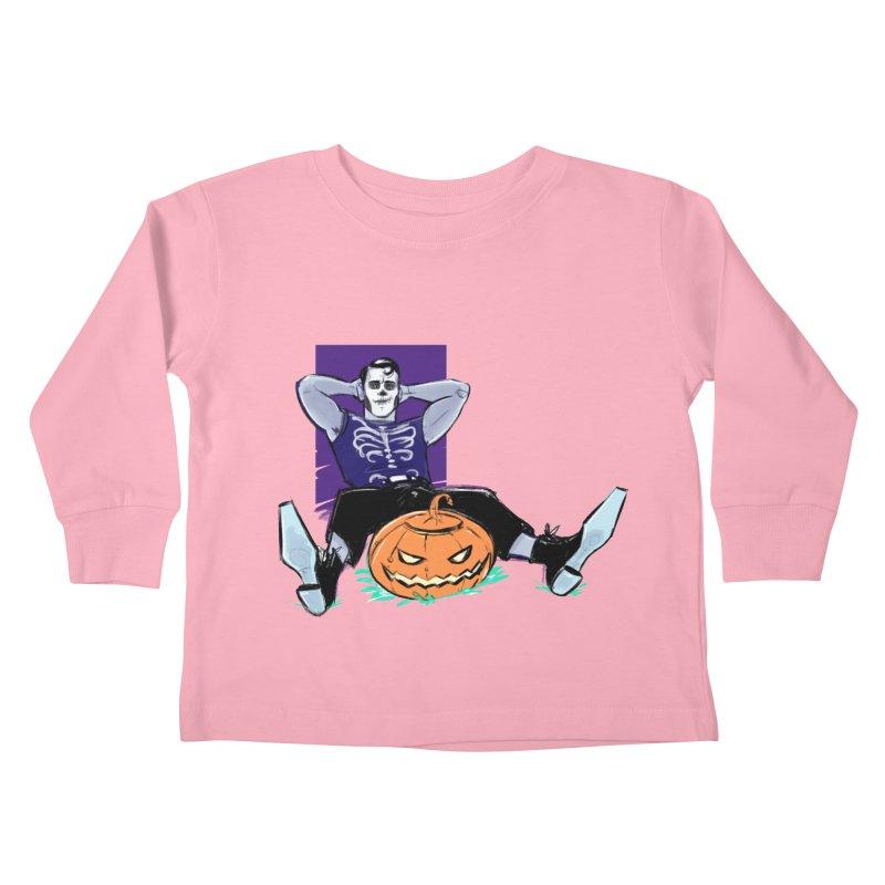 Pumpkin King Kids Toddler Longsleeve T-Shirt by Ego Rodriguez