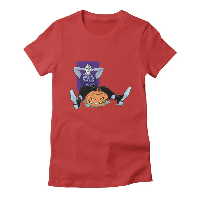 Pumpkin King Women's Fitted T-Shirt by Ego Rodriguez