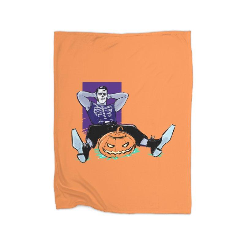 Pumpkin King Home Blanket by Ego Rodriguez