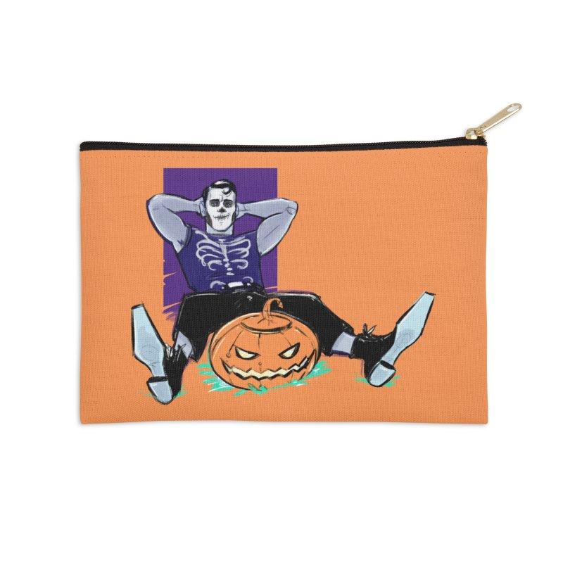 Pumpkin King Accessories Zip Pouch by Ego Rodriguez
