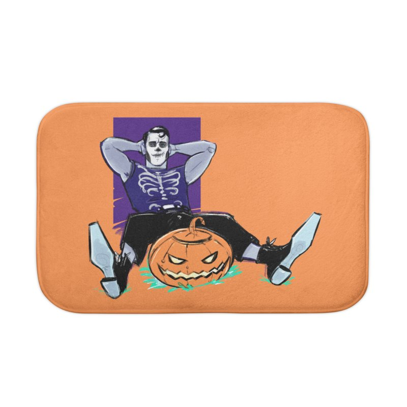 Pumpkin King Home Bath Mat by Ego Rodriguez