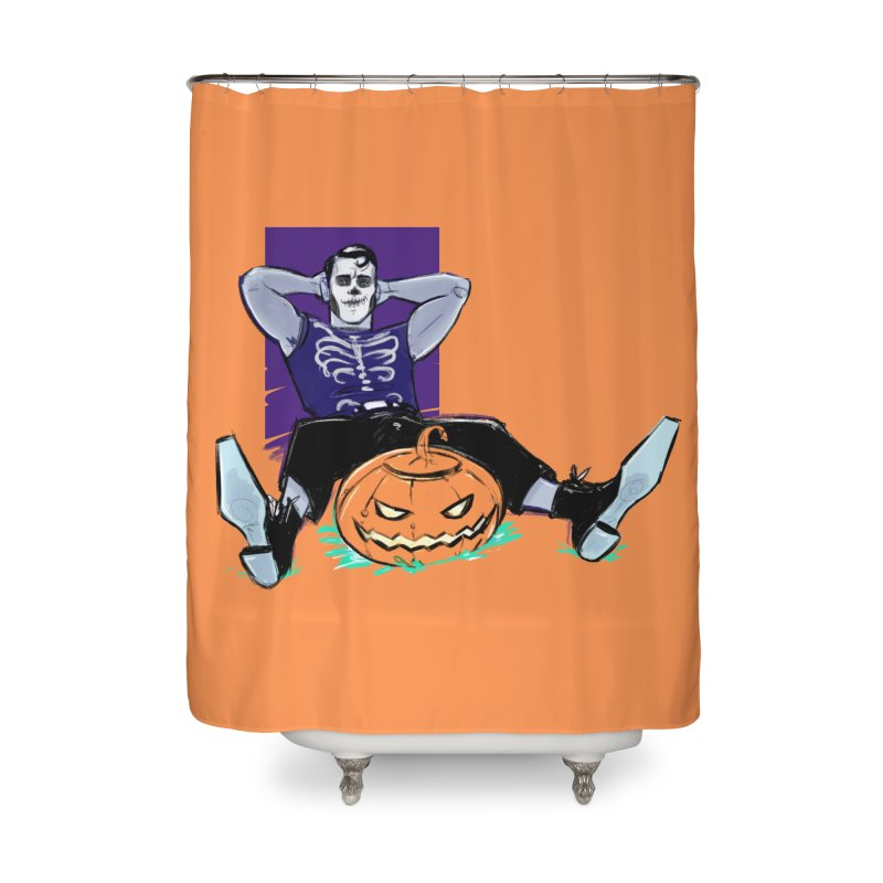 Pumpkin King Home Shower Curtain by Ego Rodriguez