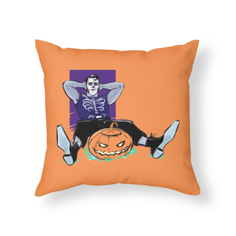 Pumpkin King Home Throw Pillow by Ego Rodriguez