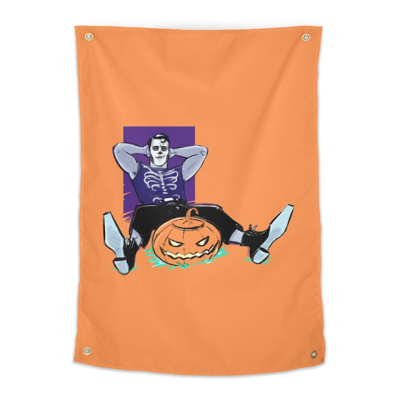 Pumpkin King Home Tapestry by Ego Rodriguez