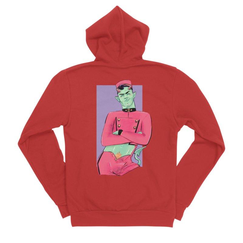 Going Down? Women's Sponge Fleece Zip-Up Hoody by Ego Rodriguez