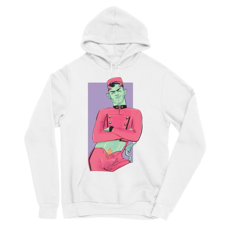 Going Down? Women's Sponge Fleece Pullover Hoody by Ego Rodriguez