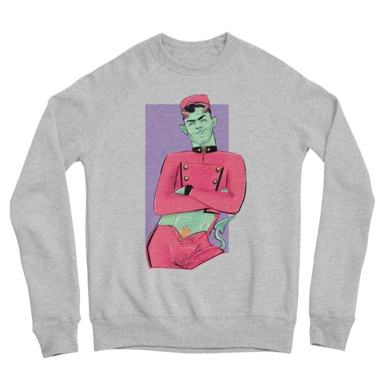 Going Down? Men's Sponge Fleece Sweatshirt by Ego Rodriguez