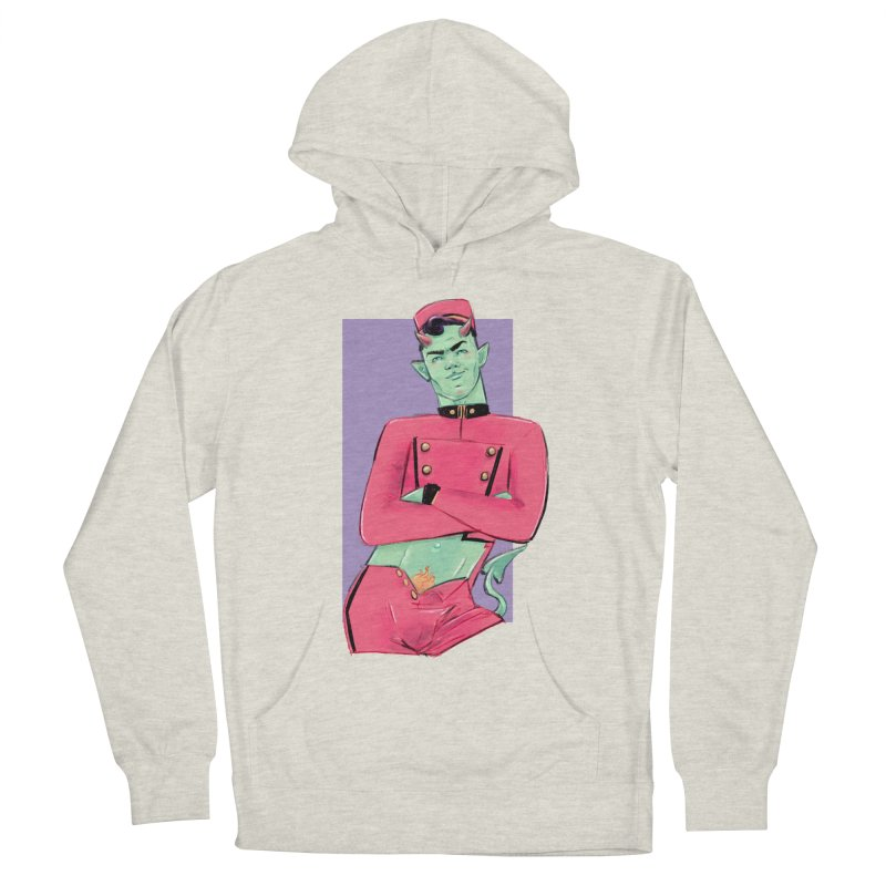Going Down? Men's French Terry Pullover Hoody by Ego Rodriguez