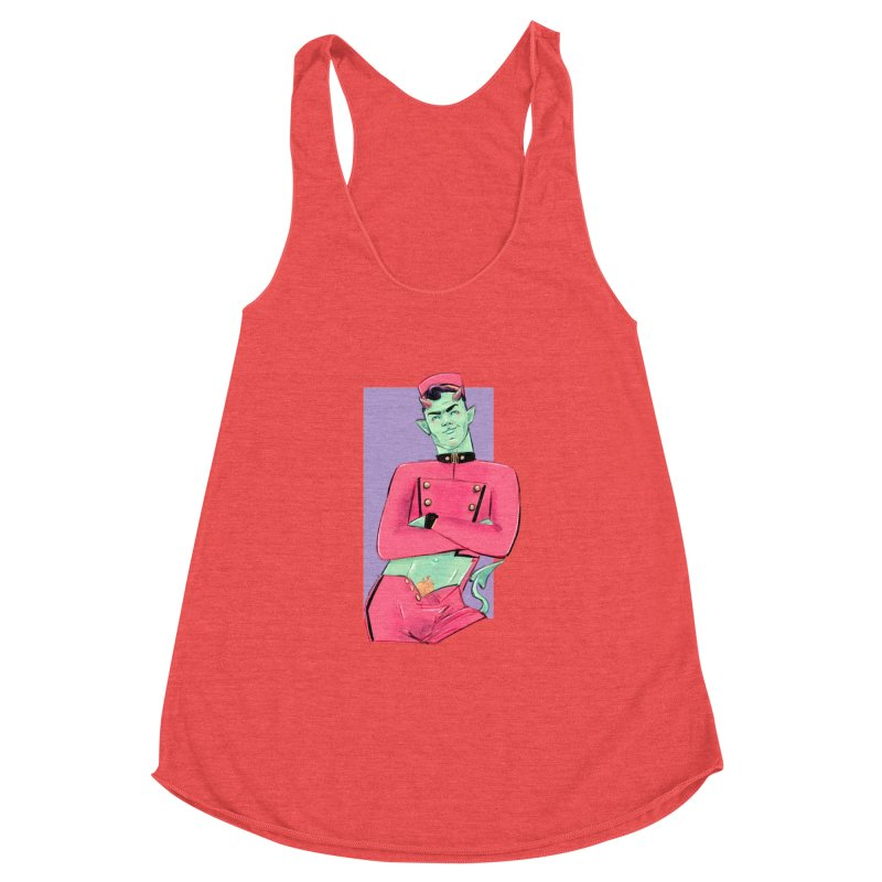 Going Down? Women's Racerback Triblend Tank by Ego Rodriguez