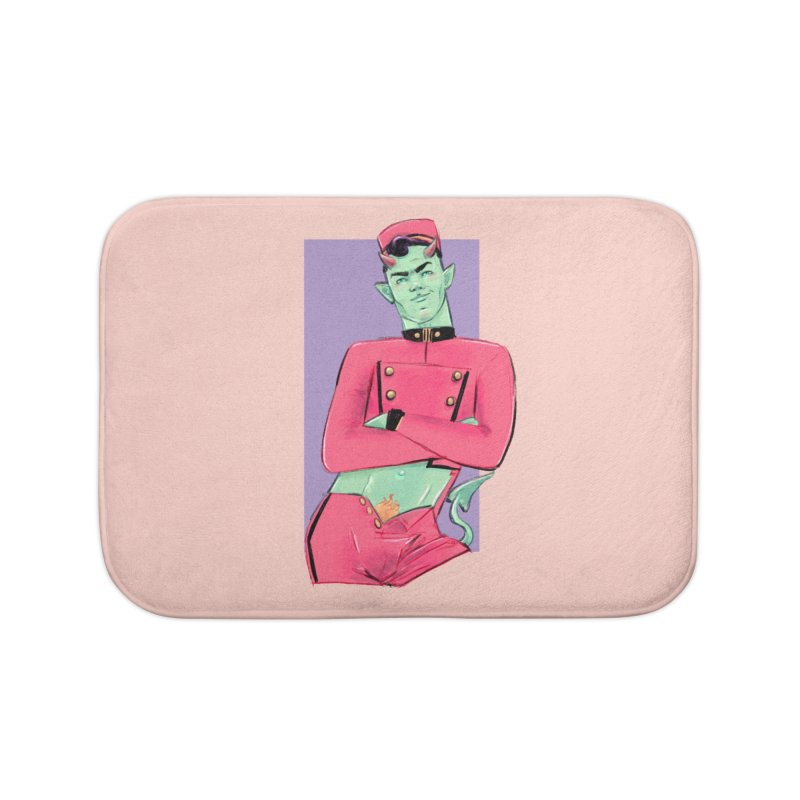 Going Down? Home Bath Mat by Ego Rodriguez