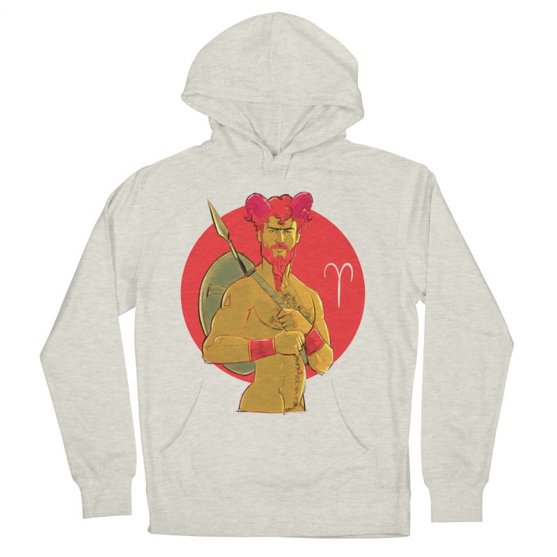 Aries Men's French Terry Pullover Hoody by Ego Rodriguez