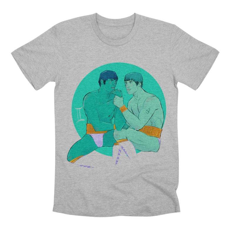 Gemini Men's Premium T-Shirt by Ego Rodriguez