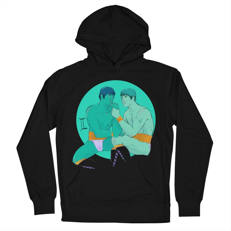 Gemini Men's French Terry Pullover Hoody by Ego Rodriguez