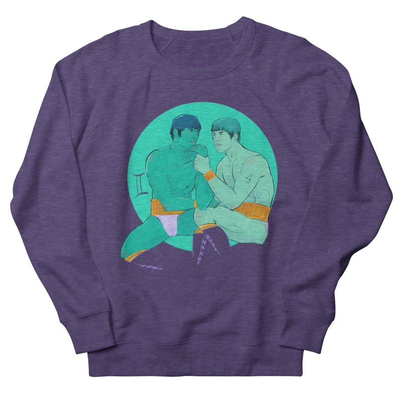 Gemini Men's French Terry Sweatshirt by Ego Rodriguez