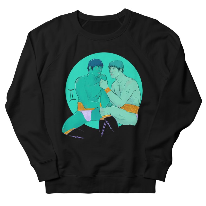 Gemini Men's French Terry Sweatshirt by Ego Rodriguez