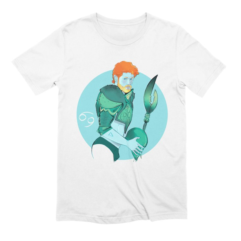 Cancer in Men's Extra Soft T-Shirt White by Ego Rodriguez