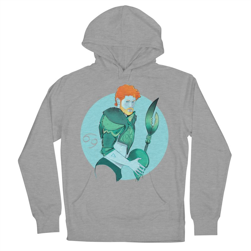 Cancer Men's French Terry Pullover Hoody by Ego Rodriguez