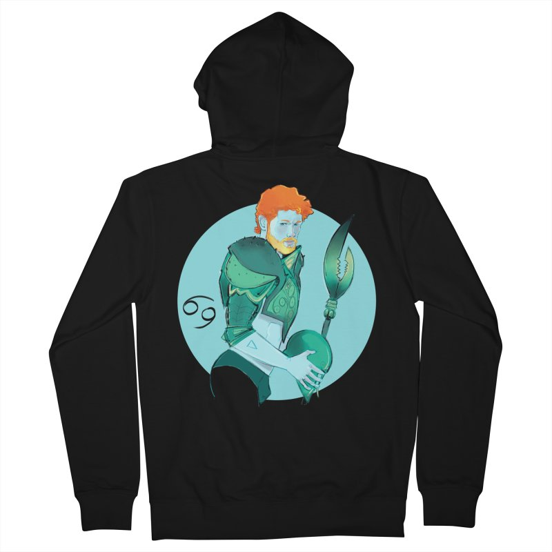 Cancer Men's French Terry Zip-Up Hoody by Ego Rodriguez