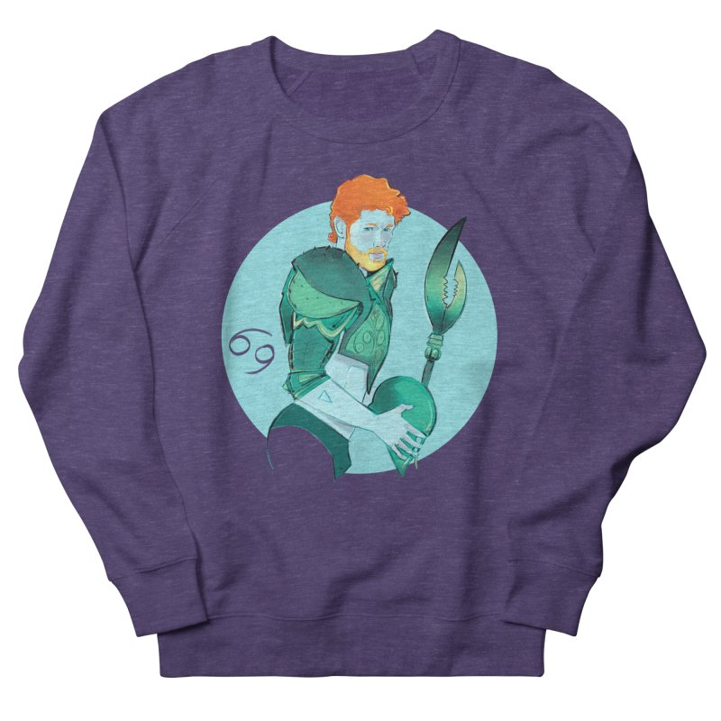 Cancer Men's French Terry Sweatshirt by Ego Rodriguez