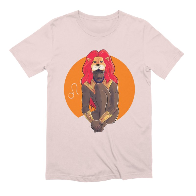 Leo in Men's Extra Soft T-Shirt Soft Pink by Ego Rodriguez