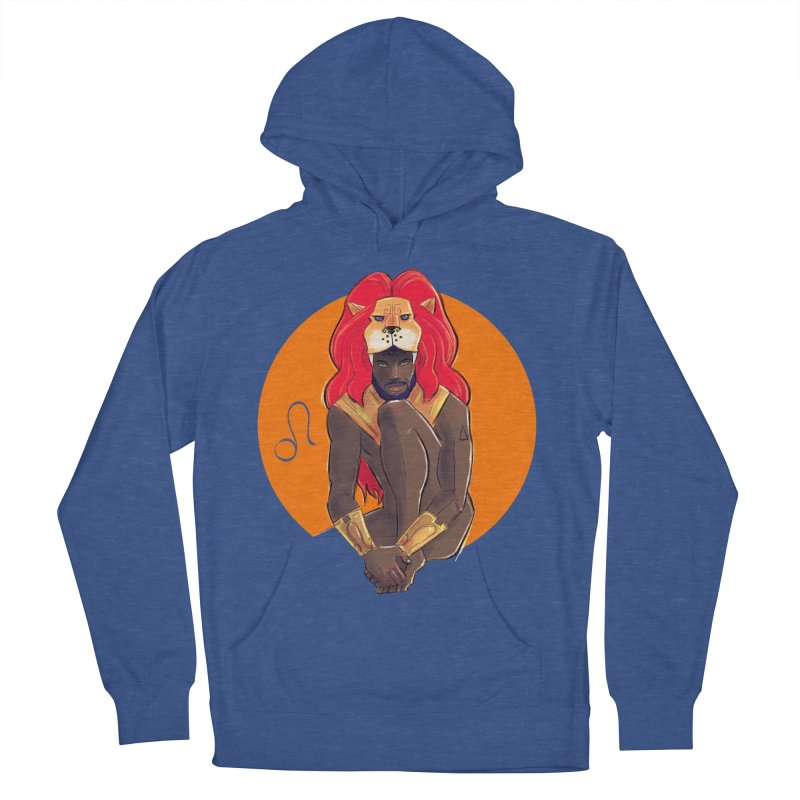 Leo Men's French Terry Pullover Hoody by Ego Rodriguez