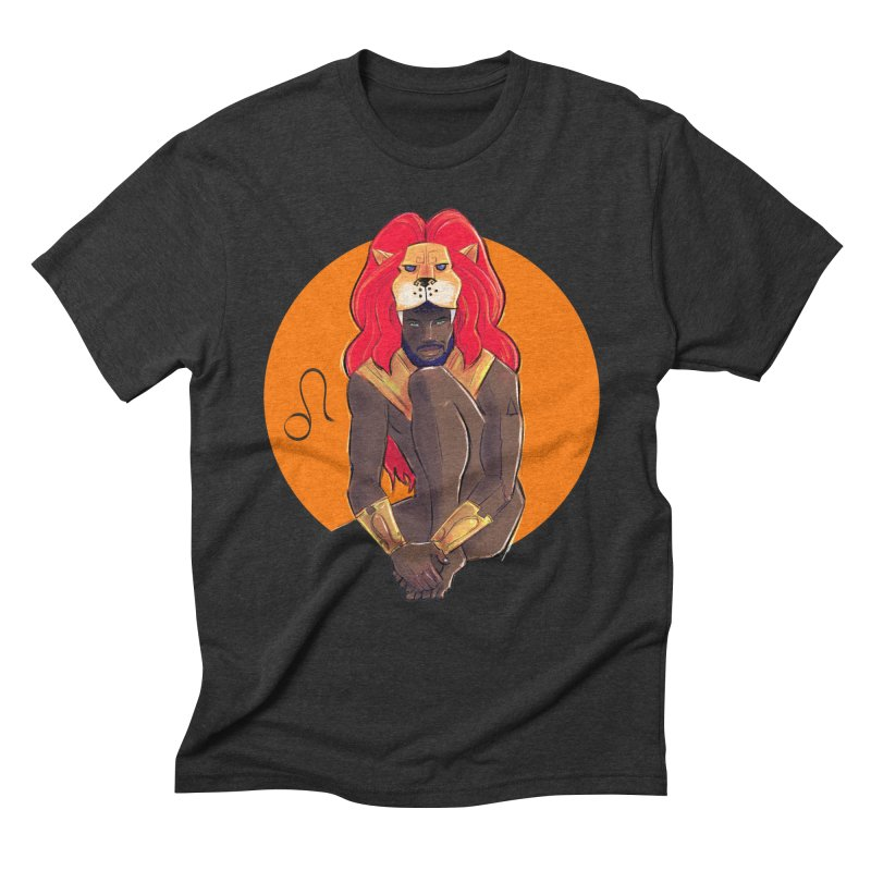 Leo Men's Triblend T-Shirt by Ego Rodriguez