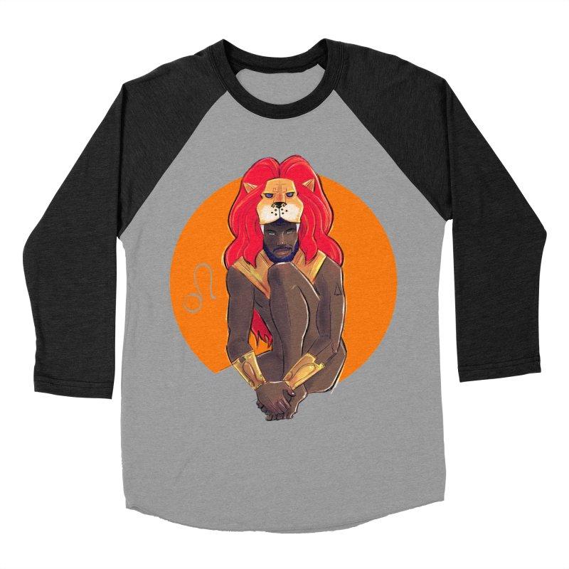 Leo Men's Baseball Triblend Longsleeve T-Shirt by Ego Rodriguez