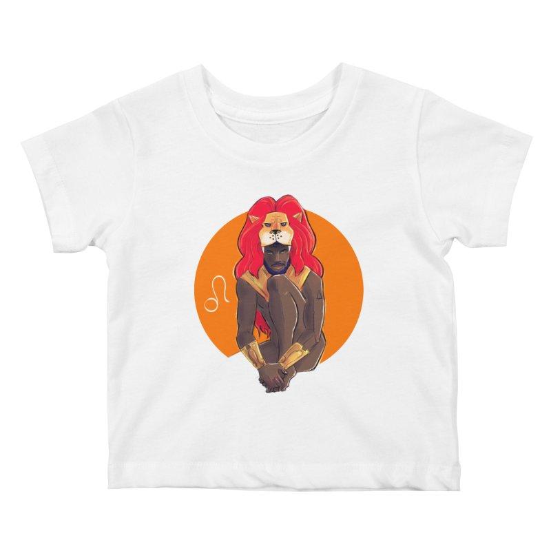 Leo Kids Baby T-Shirt by Ego Rodriguez