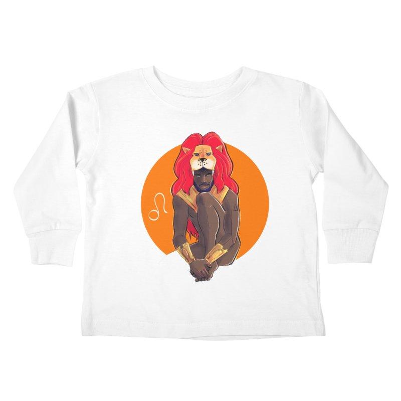 Leo Kids Toddler Longsleeve T-Shirt by Ego Rodriguez