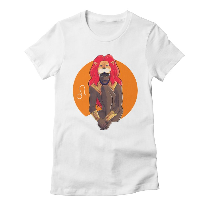 Leo Women's Fitted T-Shirt by Ego Rodriguez