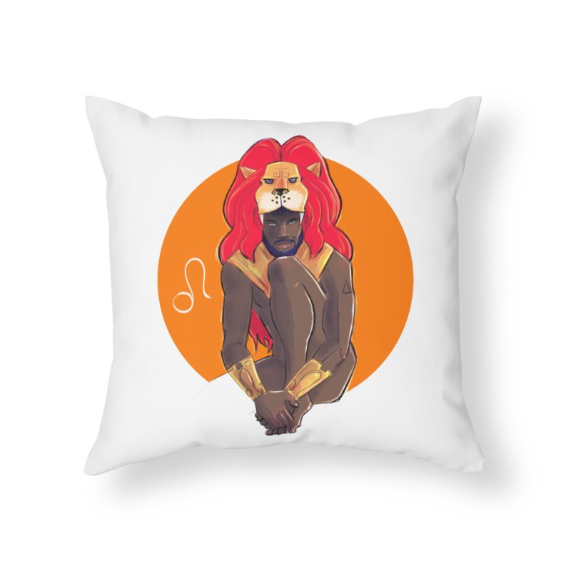 Leo Home Throw Pillow by Ego Rodriguez