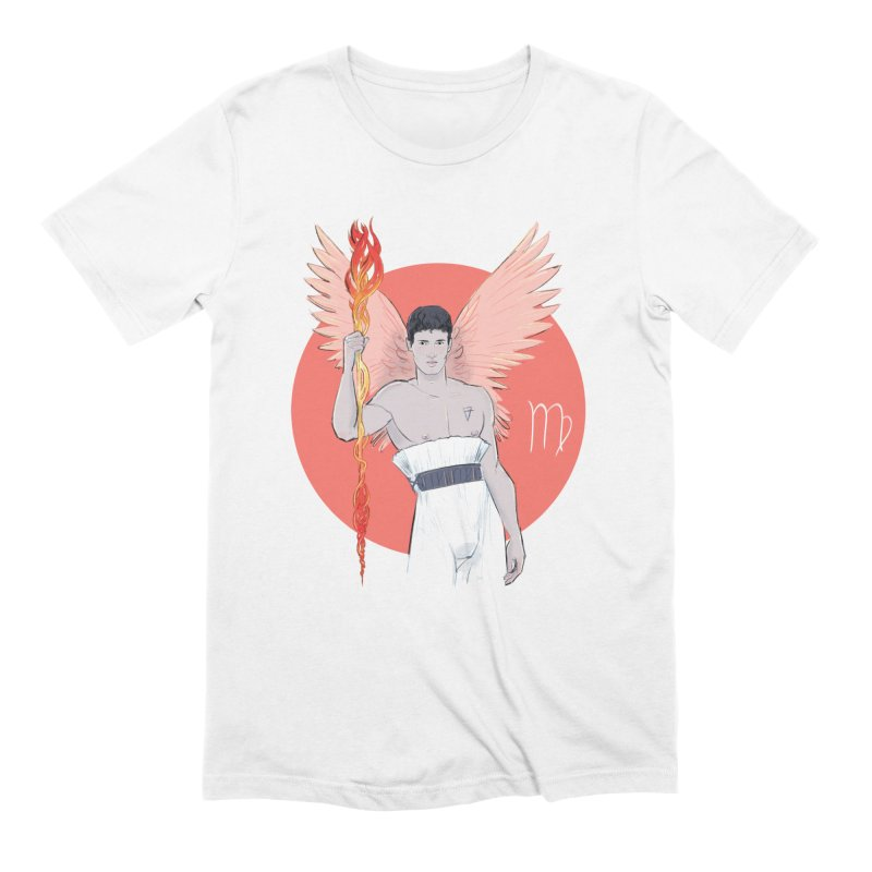 Virgo in Men's Extra Soft T-Shirt White by Ego Rodriguez