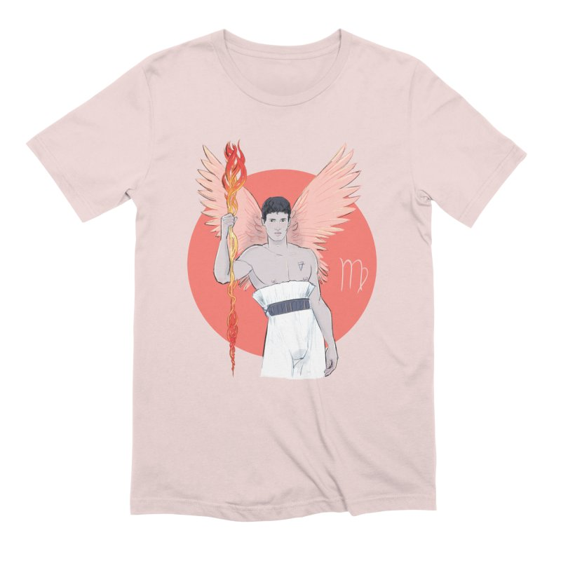 Virgo in Men's Extra Soft T-Shirt Soft Pink by Ego Rodriguez