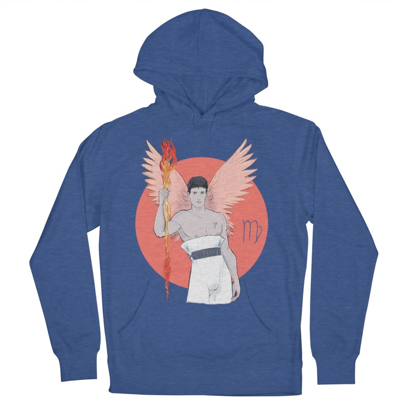 Virgo Men's French Terry Pullover Hoody by Ego Rodriguez