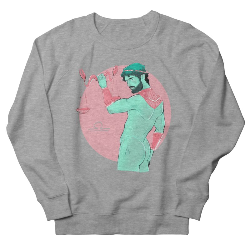 Libra Men's French Terry Sweatshirt by Ego Rodriguez