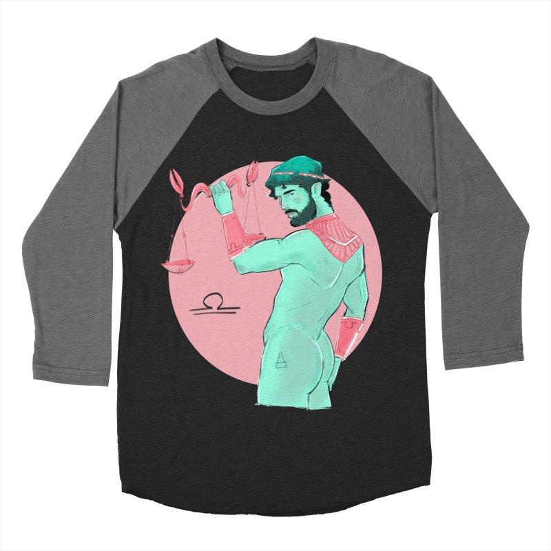 Libra Men's Baseball Triblend Longsleeve T-Shirt by Ego Rodriguez