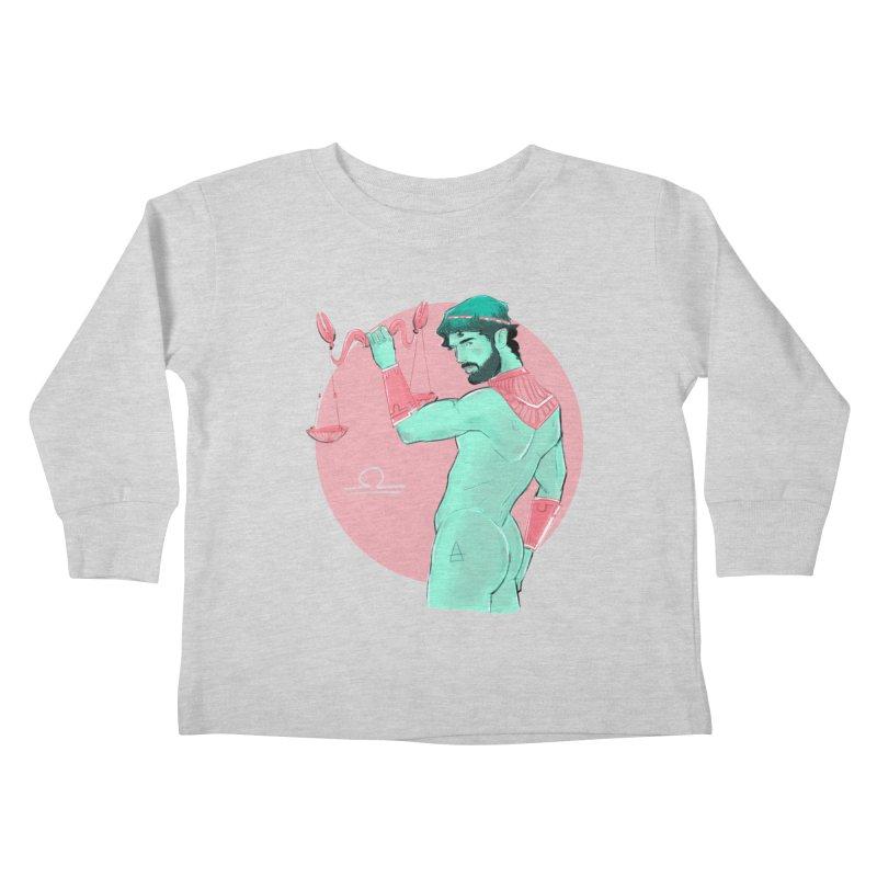 Libra Kids Toddler Longsleeve T-Shirt by Ego Rodriguez