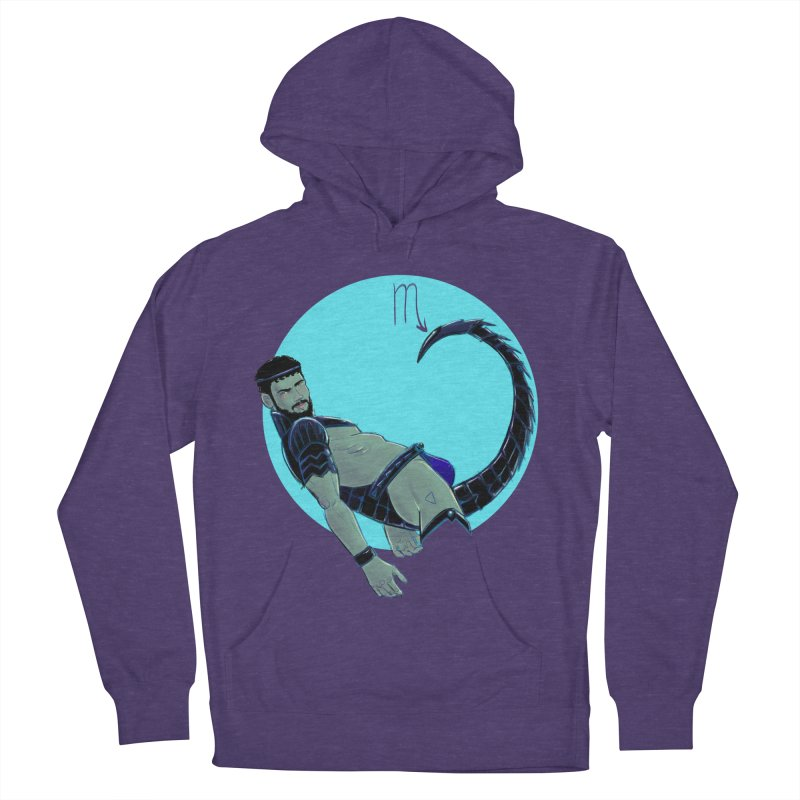 Scorpio Men's French Terry Pullover Hoody by Ego Rodriguez