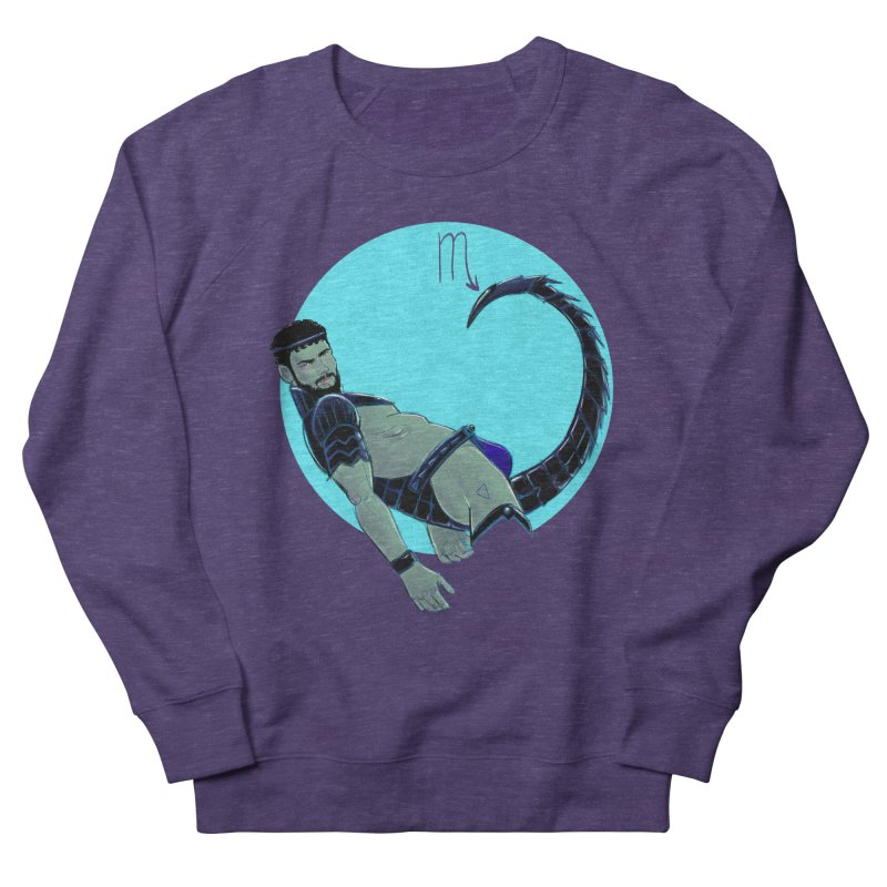 Scorpio Men's French Terry Sweatshirt by Ego Rodriguez