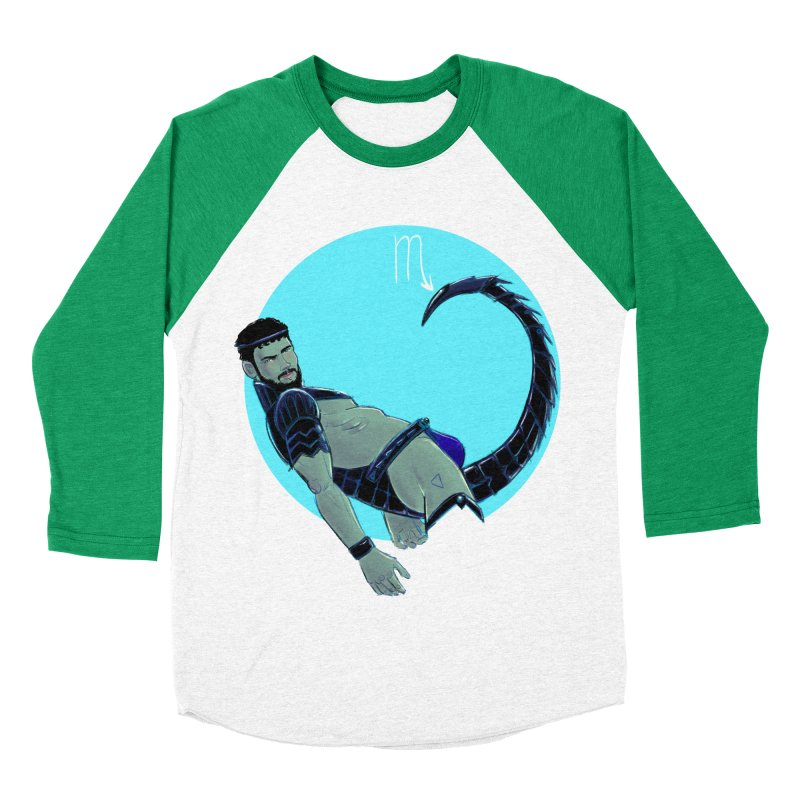 Scorpio Women's Baseball Triblend Longsleeve T-Shirt by Ego Rodriguez