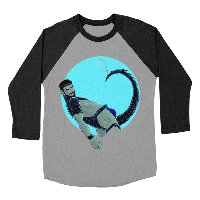Scorpio Men's Baseball Triblend Longsleeve T-Shirt by Ego Rodriguez